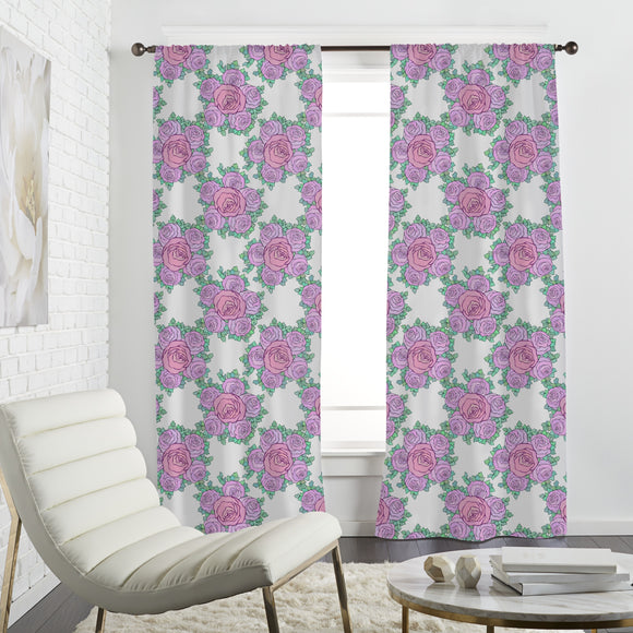 Drifting Bouquets Of Roses Curtains