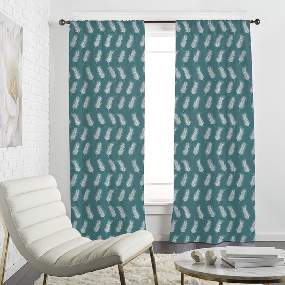 Flying palm leaves Curtains