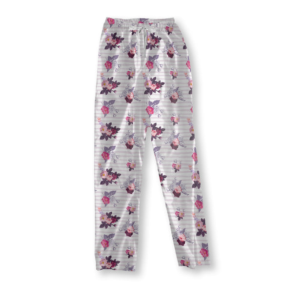 Small half-colored bouquets of roses Pajama Pants