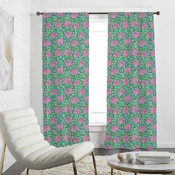 Field Of Roses Curtains