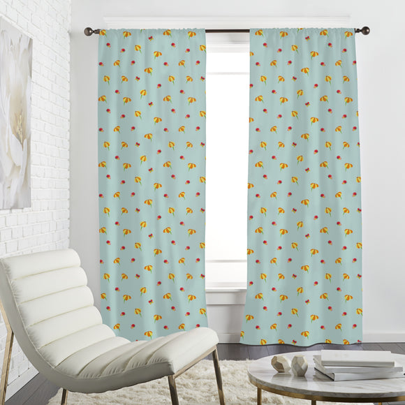 Butterflies And Blossoms Curtains