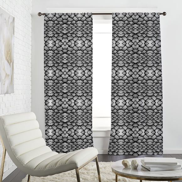 Artsy Tire Stack Curtains