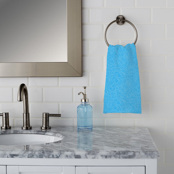 Wavy Clouds Hand Towel