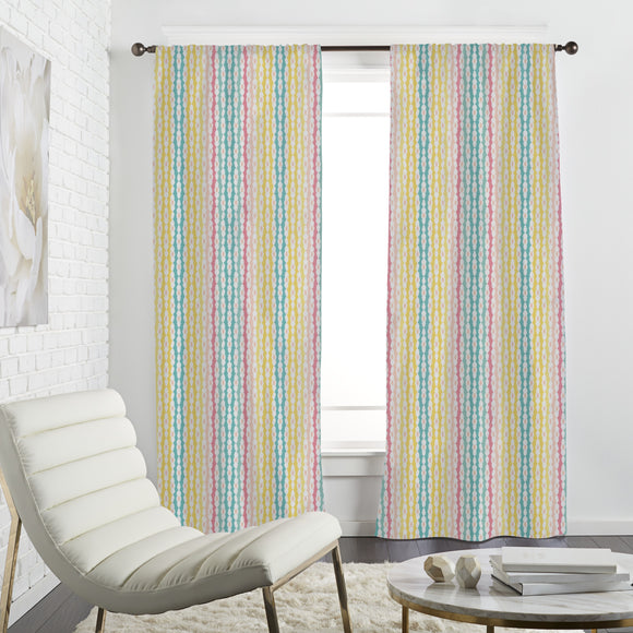 Stripes And Gaps Curtains
