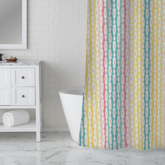 Stripes And Gaps Shower Curtain