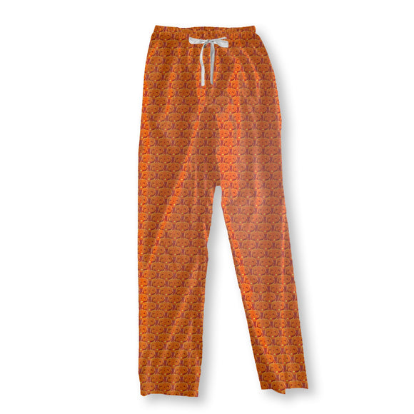 Creepy Halloween Pumpkins Pajama Pants