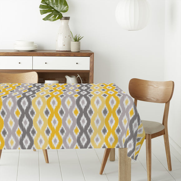 Sunny Diamond Ikat Rectangle Tablecloths