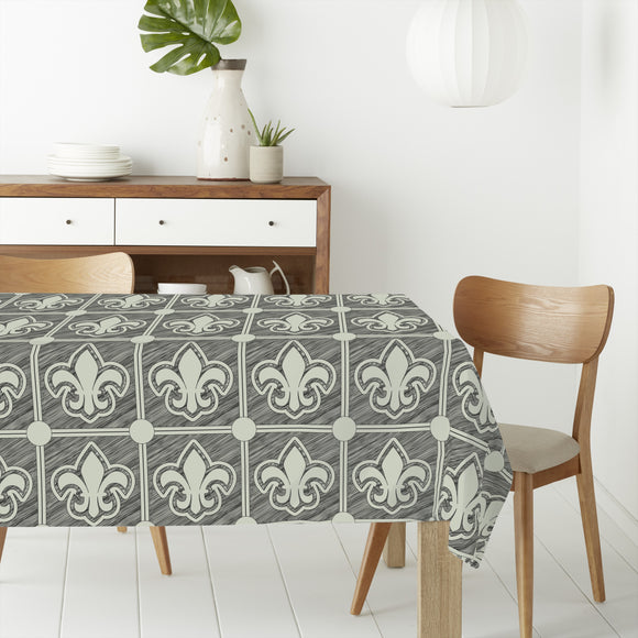 Fleur De Lis Grunge Rectangle Tablecloths