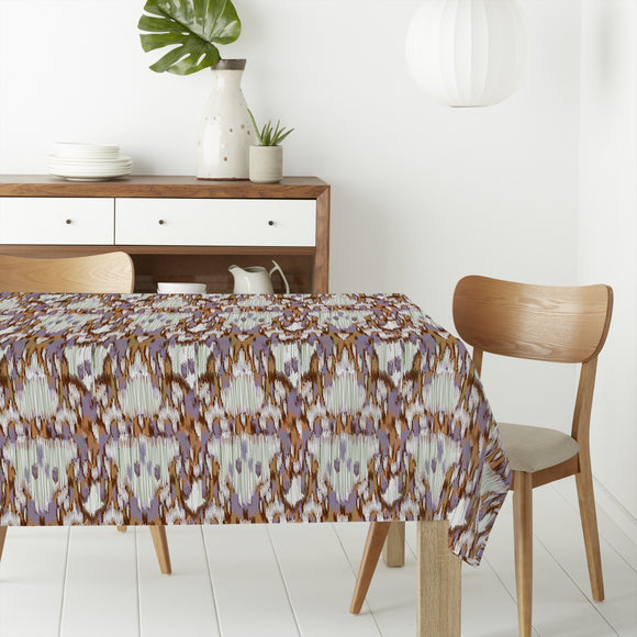 Fringed Ikat Rectangle Tablecloths