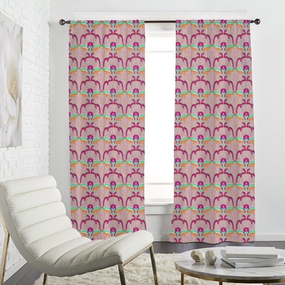Ikat Flowers Curtains