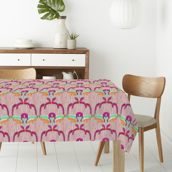 Ikat Flowers Rectangle Tablecloths