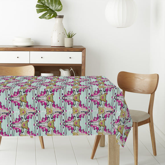 Flower Ikat Rectangle Tablecloths