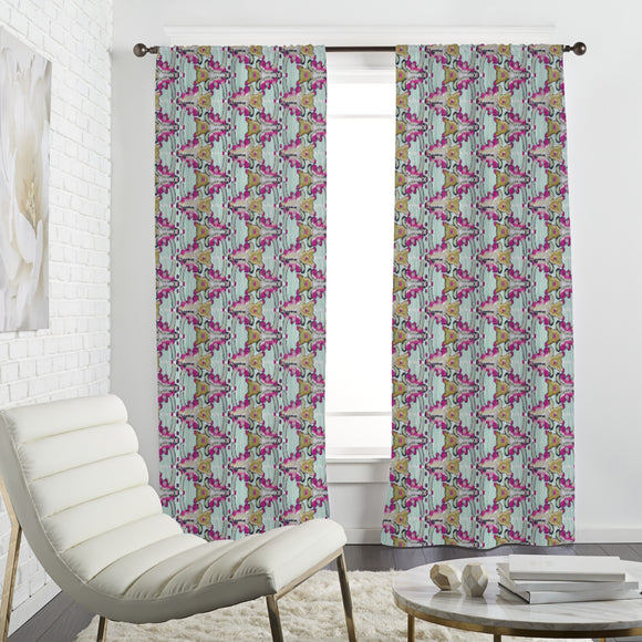 Flower Ikat Curtains