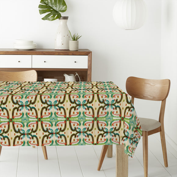 Ikat Buds Rectangle Tablecloths