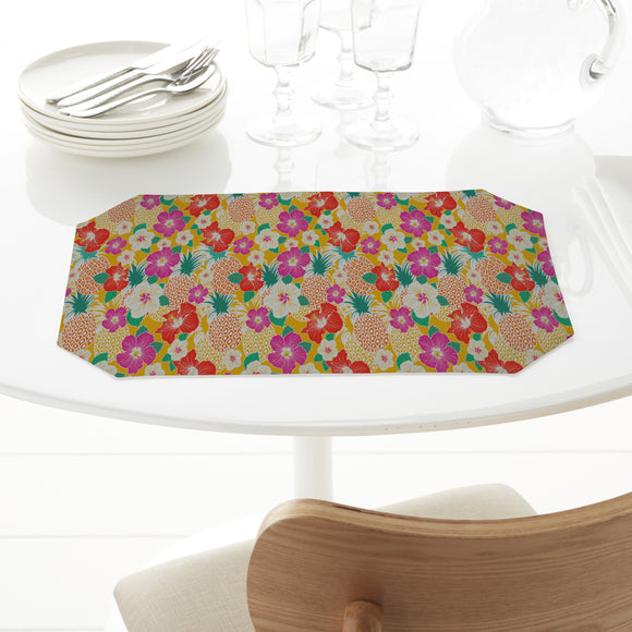 Exotic Pineapple And Hibiscus Placemats