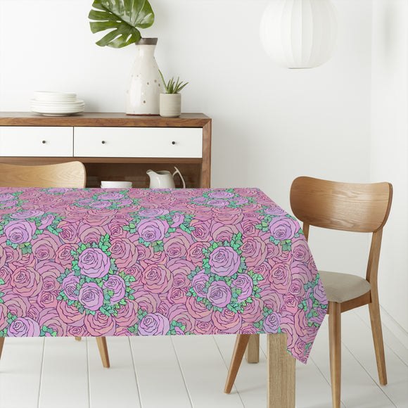 Blooming Rose Garden Rectangle Tablecloths