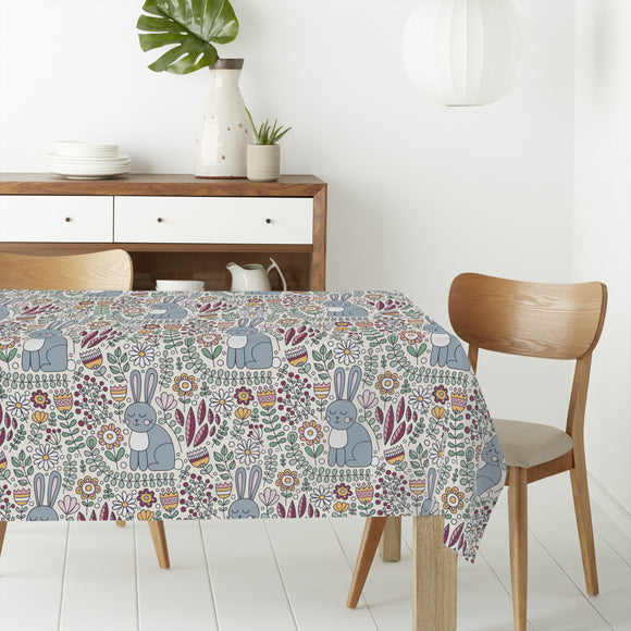 Cute Rabbit Rectangle Tablecloths