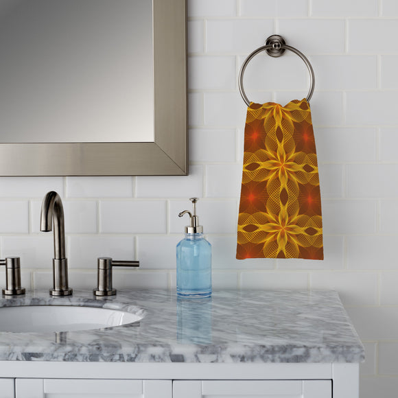 Flower Geometry Hand Towel