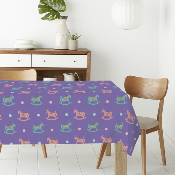 Rocking Horse Rectangle Tablecloths
