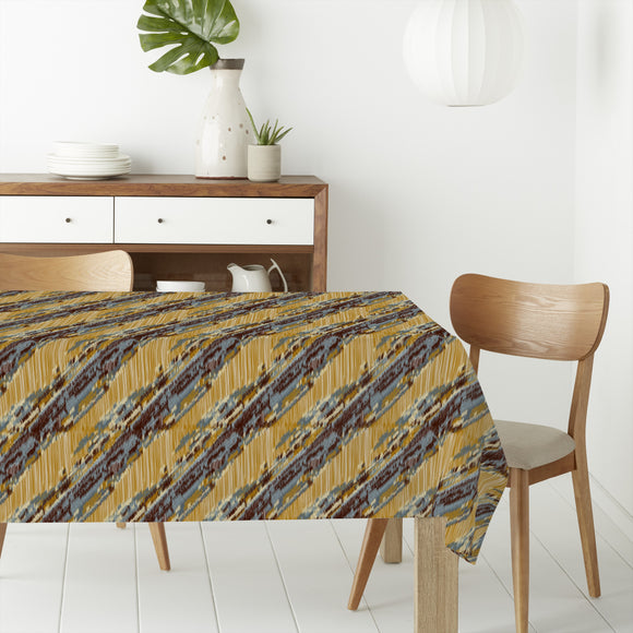 Diagonal Ikat Rectangle Tablecloths