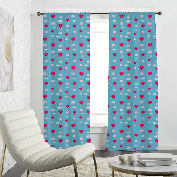 Flying Love Letters Curtains