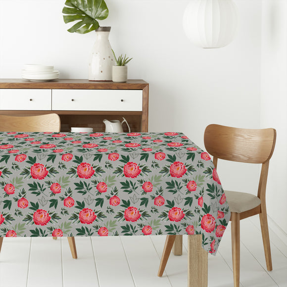 Peony In Spring Rectangle Tablecloths