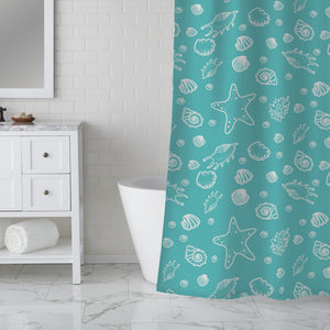 Seashell Lagoon Shower Curtain
