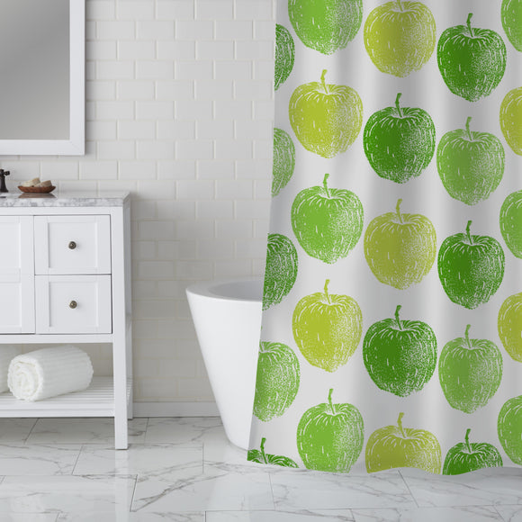 Ripe Apple Tree Shower Curtain