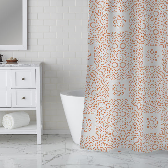 Adulating Lines Shower Curtain