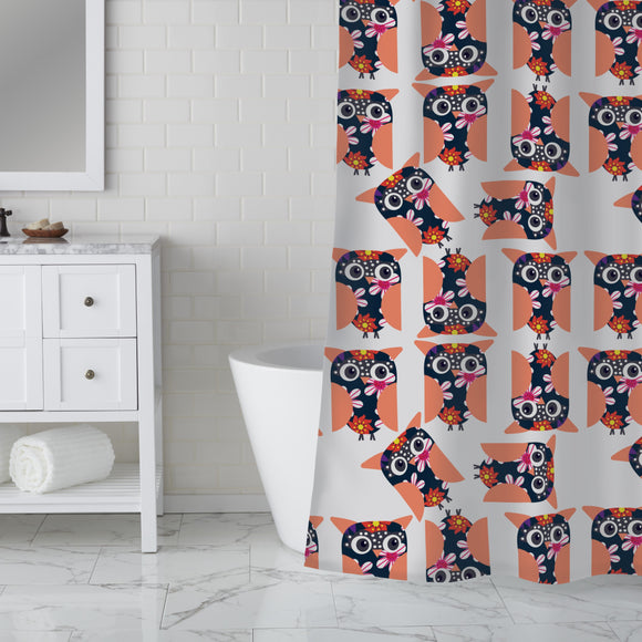Dancing Owls Shower Curtain