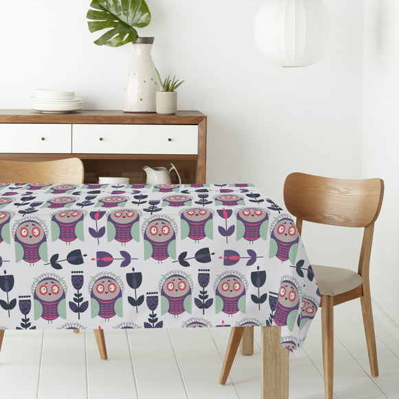 Askance Owls Rectangle Tablecloths