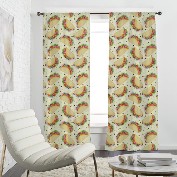 Yummi Taco Day Curtains