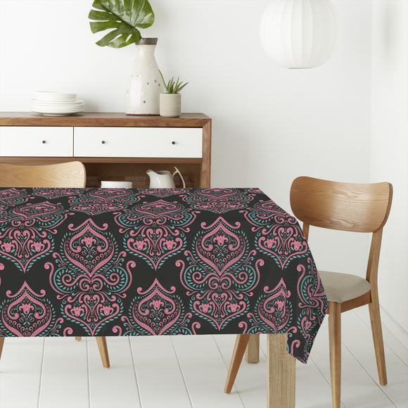 Boho Curlicue Rectangle Tablecloths