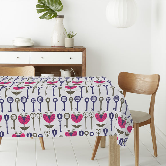 Curlicue Keys Rectangle Tablecloths