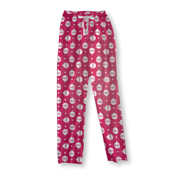 Polka Dot Christmas Tree Baubles Pajama Pants
