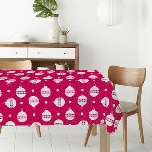 Polka Dot Christmas Tree Baubles Rectangle Tablecloths