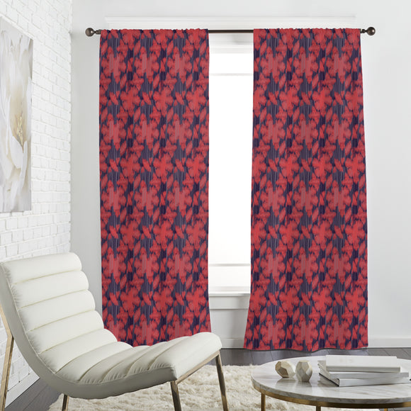 Exotic Flower Ikat Curtains