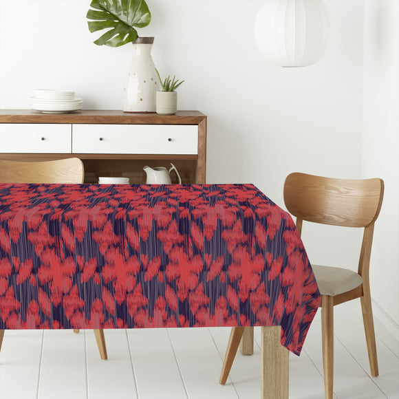 Exotic Flower Ikat Rectangle Tablecloths