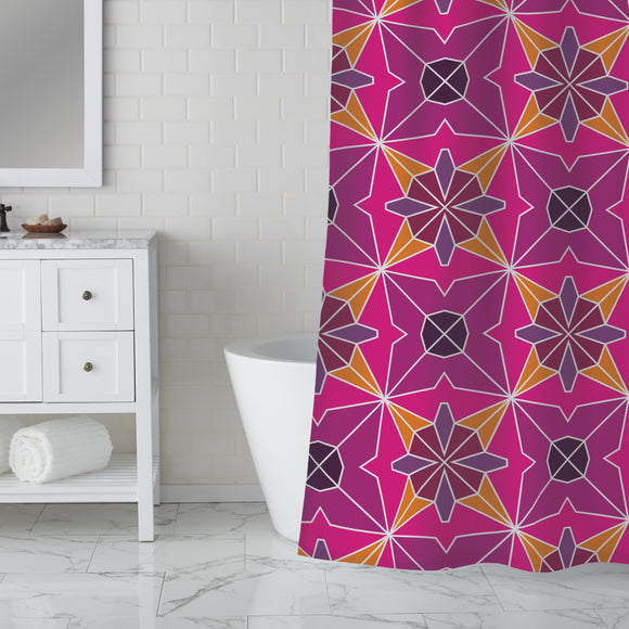 Polygonal Formations Shower Curtain