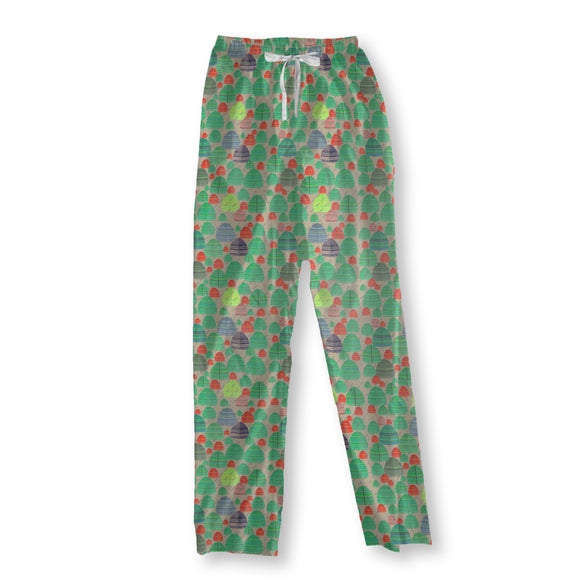 Rainy autumn forest Pajama Pants