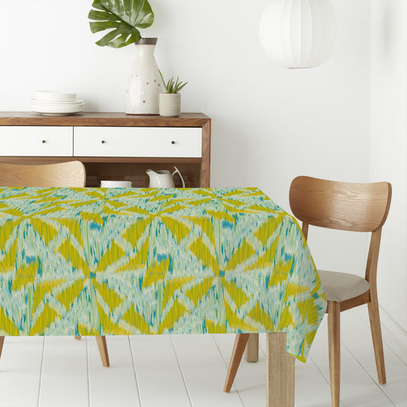 Ikat Cross Shapes Rectangle Tablecloths
