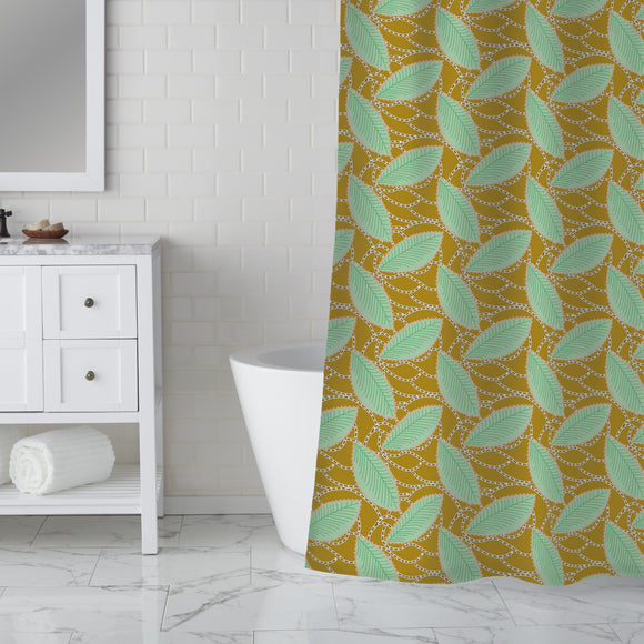 Related Leaves Shower Curtain