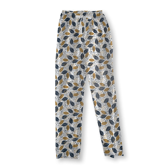 Graphical Botanical Pajama Pants