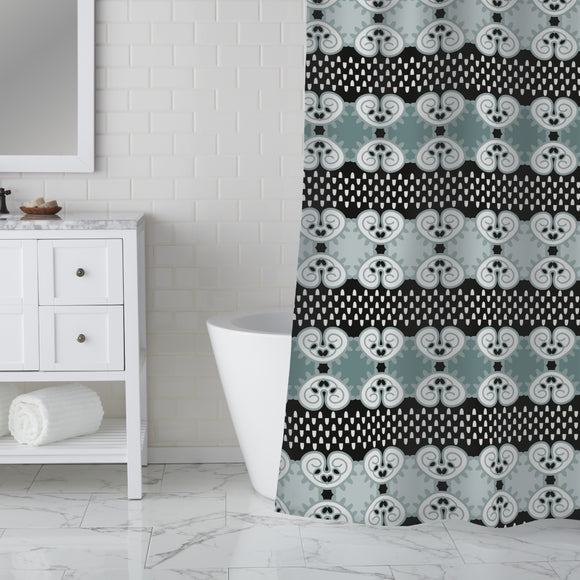 Inside Regular Stripes Shower Curtain