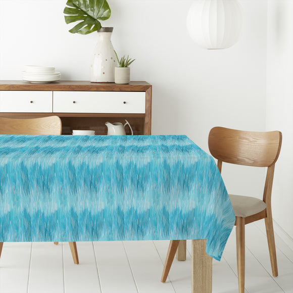 Blurry Ikat Rectangle Tablecloths