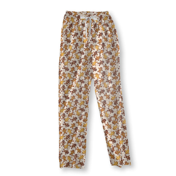 Gingerbread men and pearls Pajama Pants