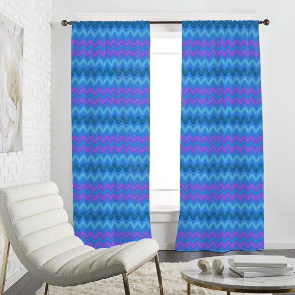 Brushstroke Waves Curtains