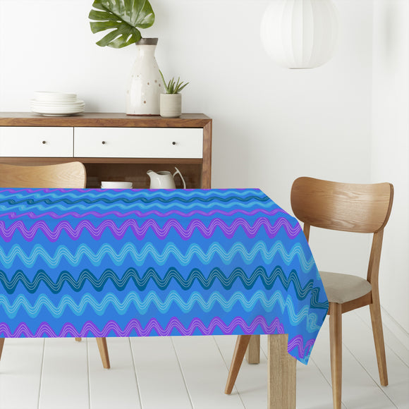 Brushstroke Waves Rectangle Tablecloths