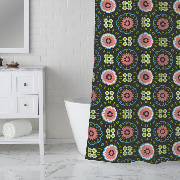 Floral Meeting Shower Curtain