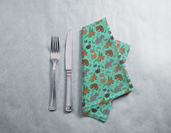 Cats in spring Napkins